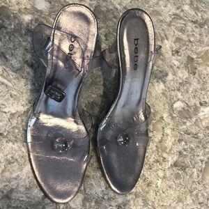 Bebe ankle sandal heel